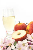Cider and apple - still-life — Stock Photo