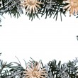 Christmas - decoration - frame — Stock Photo