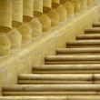 Old staircase - balustrade — Stock Photo