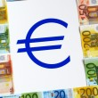 Money EURO and sign — 图库照片