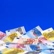 Notas de la Euro - fondo — Foto de Stock