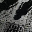 Shadows of on street — Stock Photo