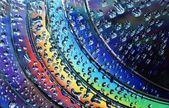 Regnbågens färger på skivor — Stockfoto