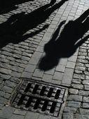 Shadows of on street — Stock Photo