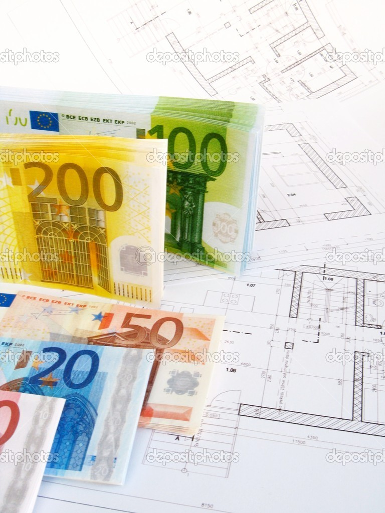 EURO money and plans — Stock Photo #2363796