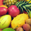 Tropical fruits and vegetables — Stock Photo