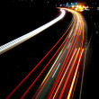 Lights of evening traffic - Stock Photo