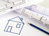Bosquejo arquitectónico del plan de la casa — Foto de Stock