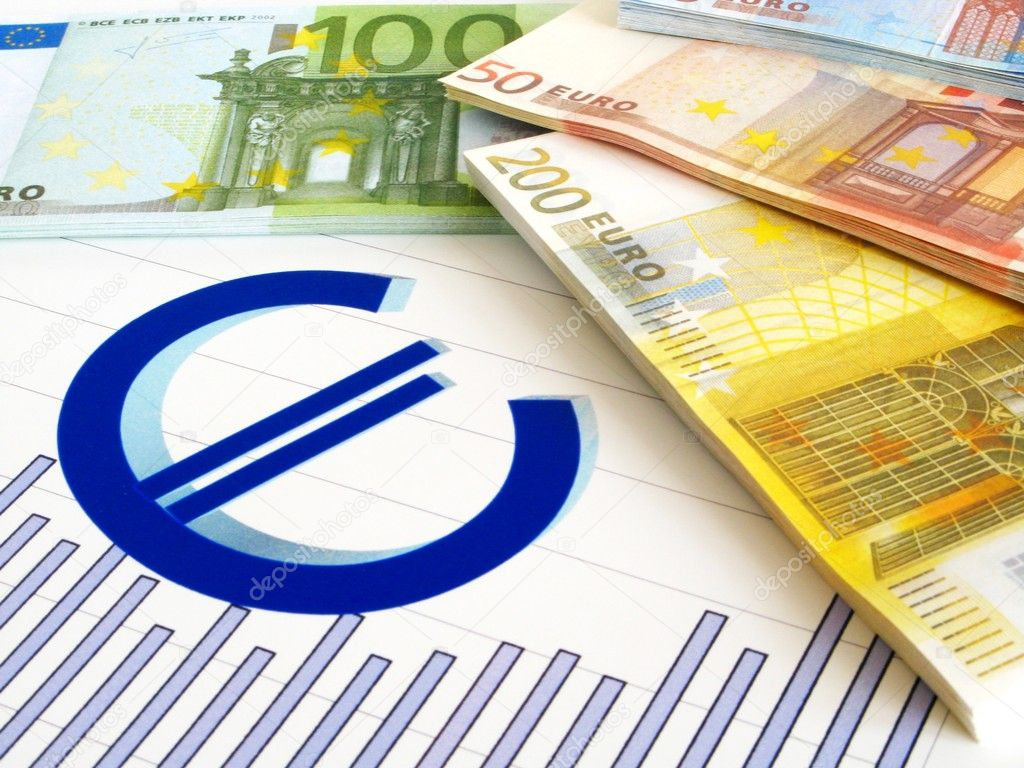 EURO money and graph - business report — Stock Photo #2457445