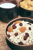 Oatmeal with fruits — Stock Photo