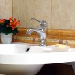 Interior of bathroom - basin and faucet — Stock Photo #2583895