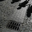 Shadows on street — Stock Photo