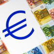 Money EURO and sign — Stockfoto