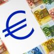 signo y dinero euro — Foto de Stock