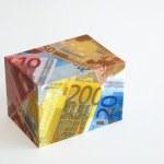 Notas de la euro - caja — Foto de Stock