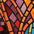 stained glass window - church — Stock Photo