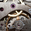 Stockfoto: Clock inside macro background