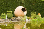 Jugs Fountain Topiary park Durbui — Stock Photo