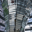 Stockfoto: Reichstag dome mirrors column, Berlin