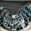 Reichstag dome  mirrors column - Stock Photo
