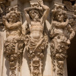 Three mans statue Zwinger palace — Stock Photo
