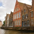 Flemish style houses canal street — Stock Photo #2502117