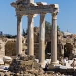 Apollo temple sea view Side, Turkey — Stock Photo