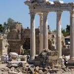 Ruins of Temple of Apollo in Side Turkey — Stock Photo