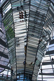 Reichstag dome mirrors column, Berlin — Stock Photo