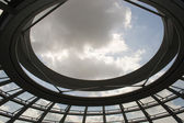 Reichstag dome sky view — Stock Photo