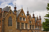Flemish style house with small towers — Foto Stock