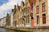 Canal street in Brugges Belgium — Stock Photo