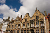 Flemish style house street — Stock Photo