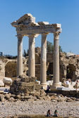 Apollo temple sea view Side, Turkey — Stock Photo