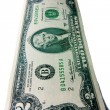 Two dollar lucky bill - Foto de Stock