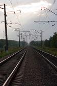 Railway to infinity — Stock Photo