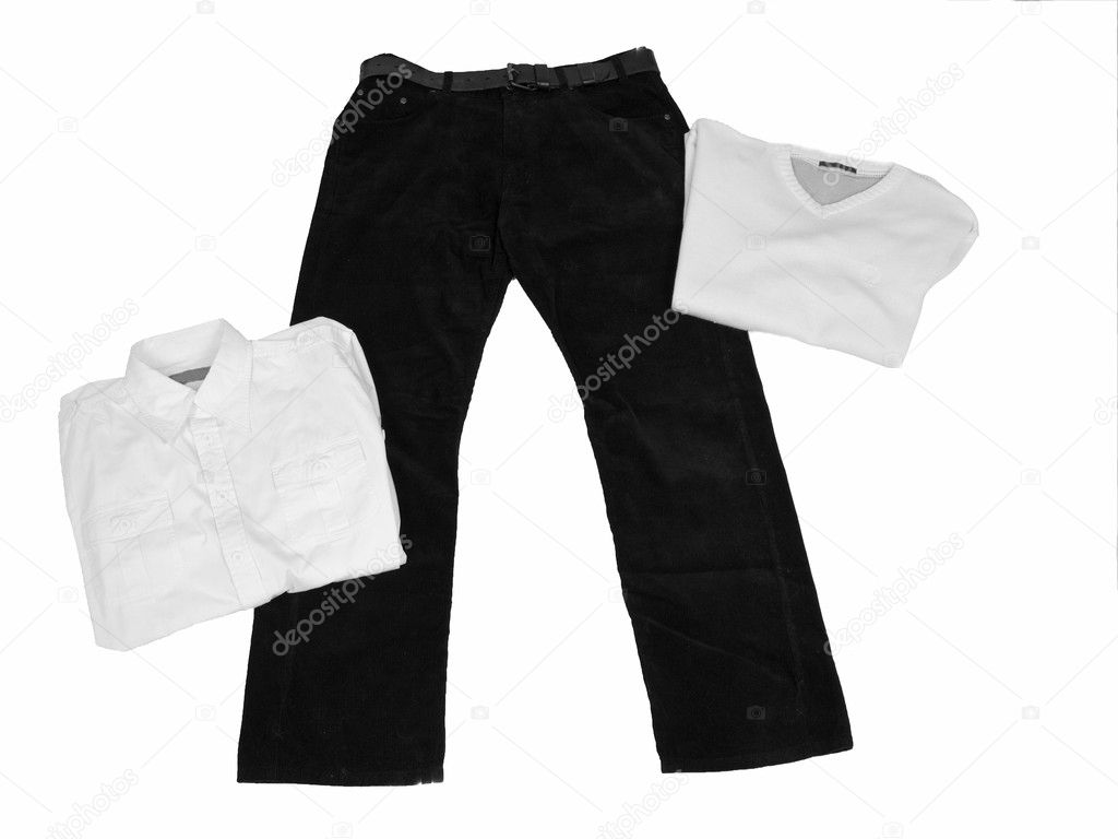 Black and white men's clothes — Stock Photo #2623066