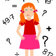 Bad in math - problems at school - Stock Photo