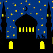 Arabian night - mosque - Stock Photo