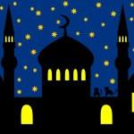 Arabian night - mosque — Stock Photo