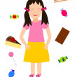 Стоковое фото: Dreaming about sweets - illustration