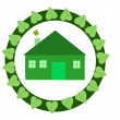 Ecological house — Stockfoto