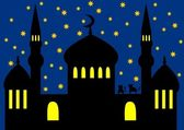Arabian night - mosque — Stock Photo