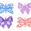 Decorative butterflies - Stock Photo