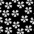 Floral background - white and black - Stock Photo