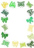 Spring butterflies frame — Stock Photo