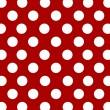 Stock Photo: White dots on red background