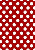 Pois blancs sur fond rouge — Photo