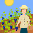 Vine-grower - illustration — Stock Photo