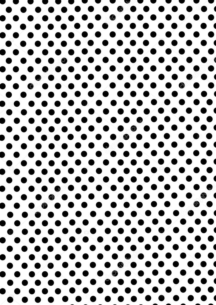 White Dot Black Background Dots on a White Background